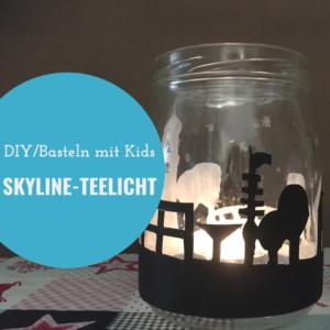 Teelicht mit Skyline